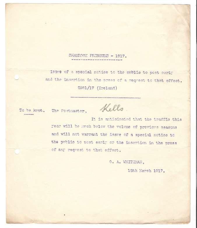 Shamrock pressure 1917
