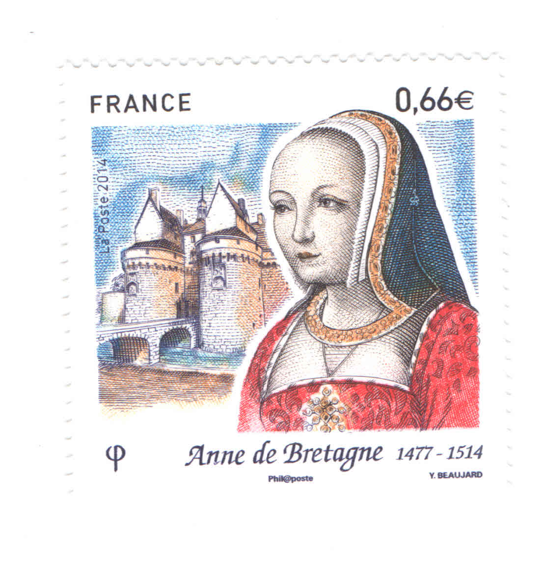 Anne of Brittany stamp
