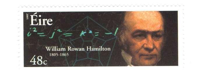 W R Hamilton stamp