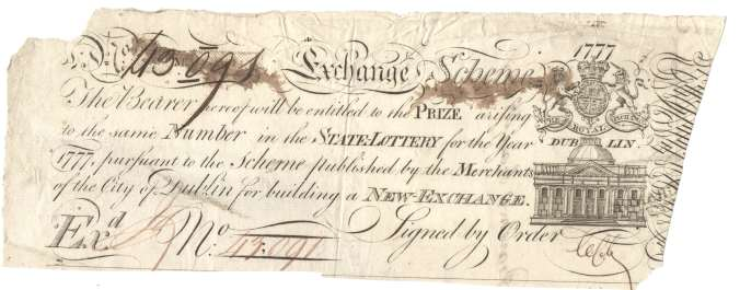 Lottery ticket Royal Exchange 1777