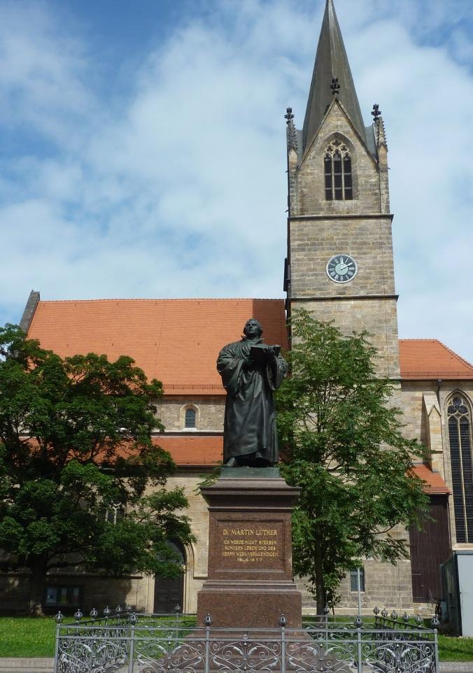 Martin Luther statue Erfurt