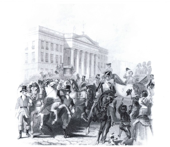 GPO - entry of George IV to Dublin