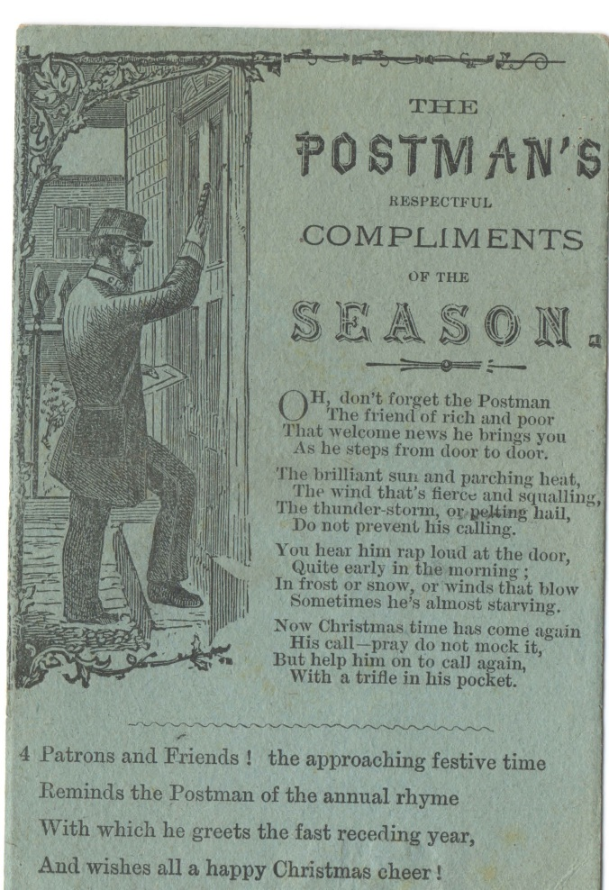 Postman's Compliments Christmas card